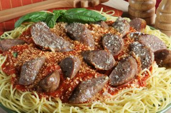5. Spaghetti aux saucisses italiennes