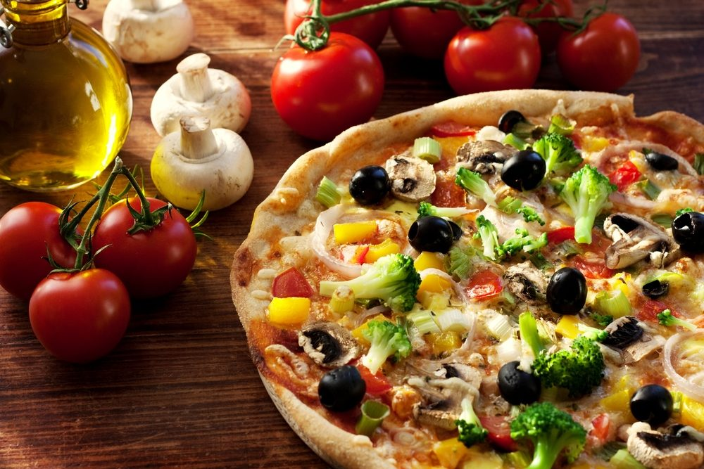 Pizza végétarienne grillée