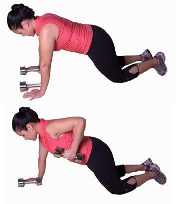 3. Traction du bras: position de planche modifiée