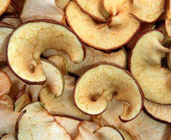 Croustilles de pommes cuites au four