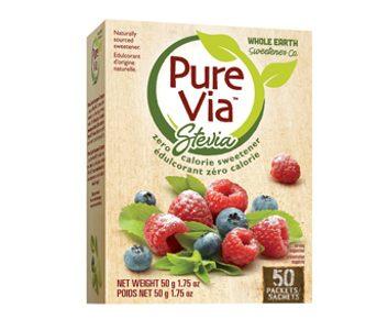 L'édulcorant Pure Via Stevia