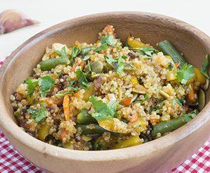 «Riz» de quinoa frit