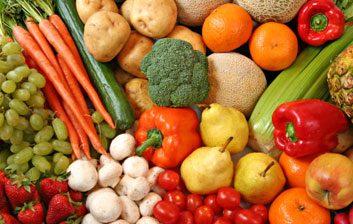 2. Voici ma consommation de fruits et légumes hier :