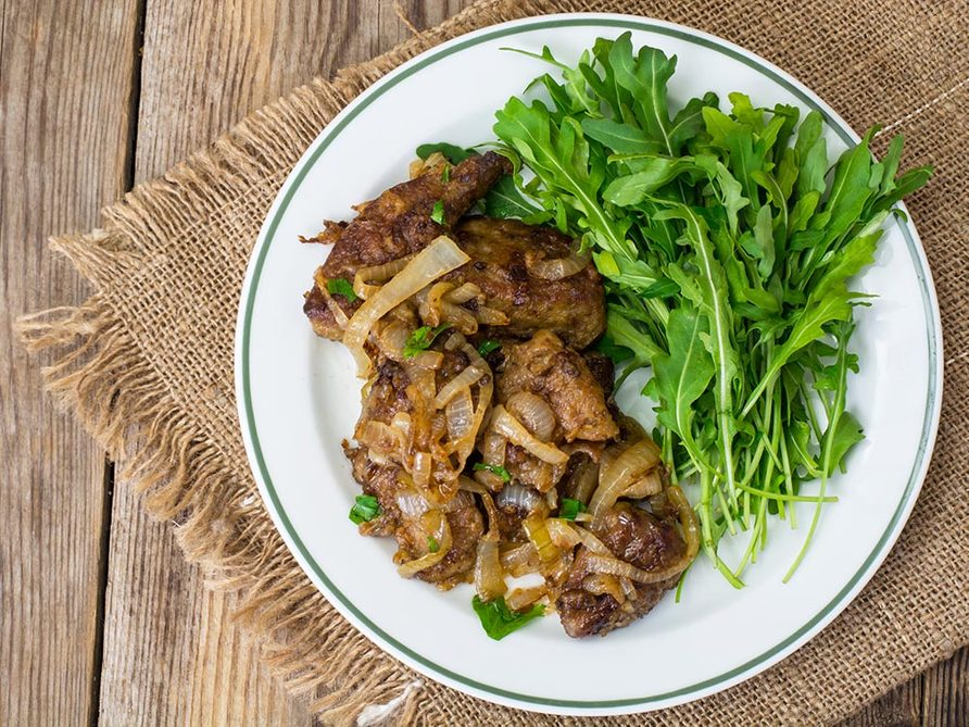Recette faible en calories: le fois de veau au vinaigre balsamique.