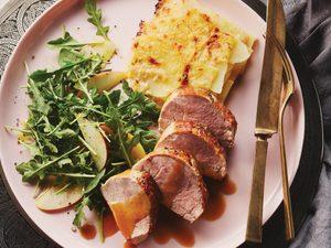 La meilleure recette de filet de porc rôti au cidre de pomme