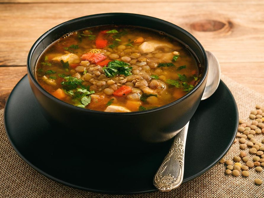 Recette faible en calories: soupe à l'italienne.