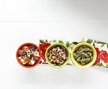 Trois salades revisitées