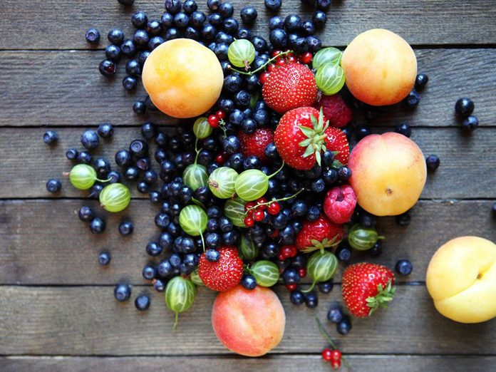 Les fruits sont importants dans le cadre d'un régime méditerranéen.