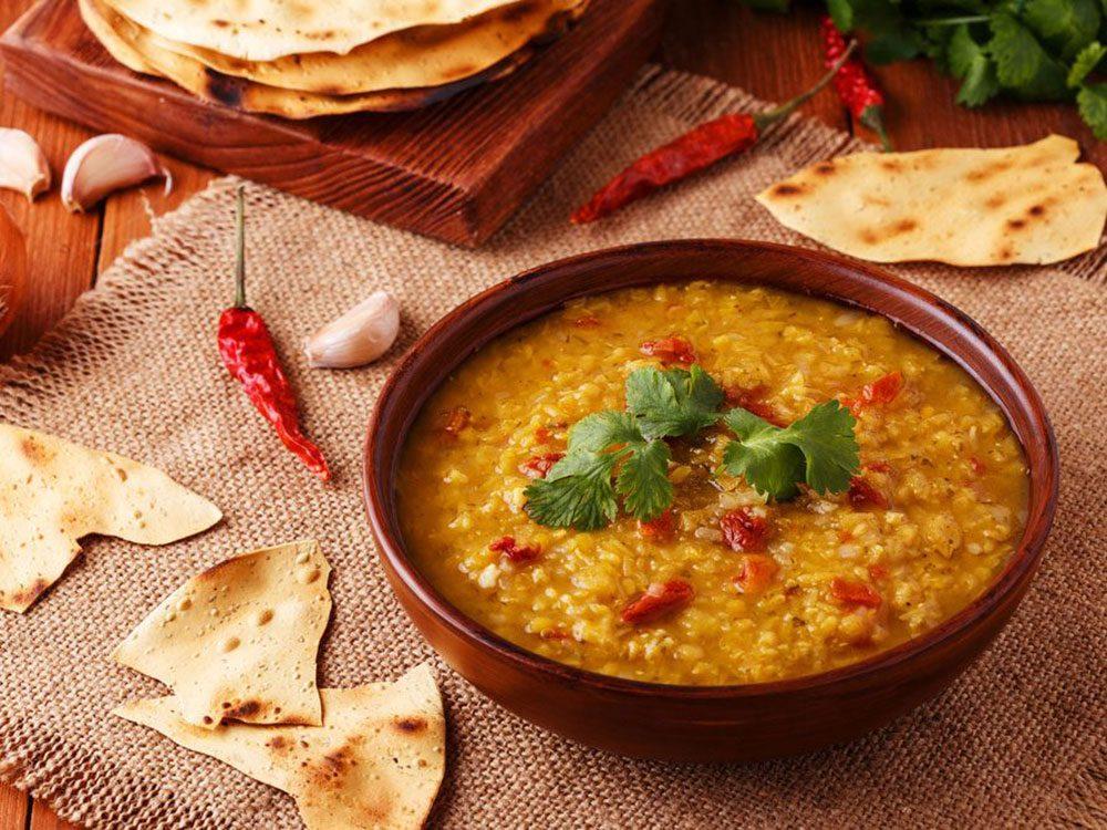 Les légumes secs sont importants dans le cadre d'un régime méditerranéen.