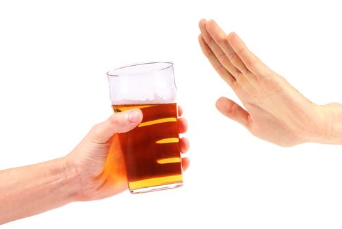 Évitez l'alcool