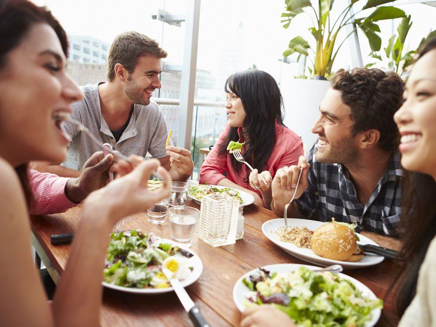 7. Choisissez un bon restaurant végétarien.