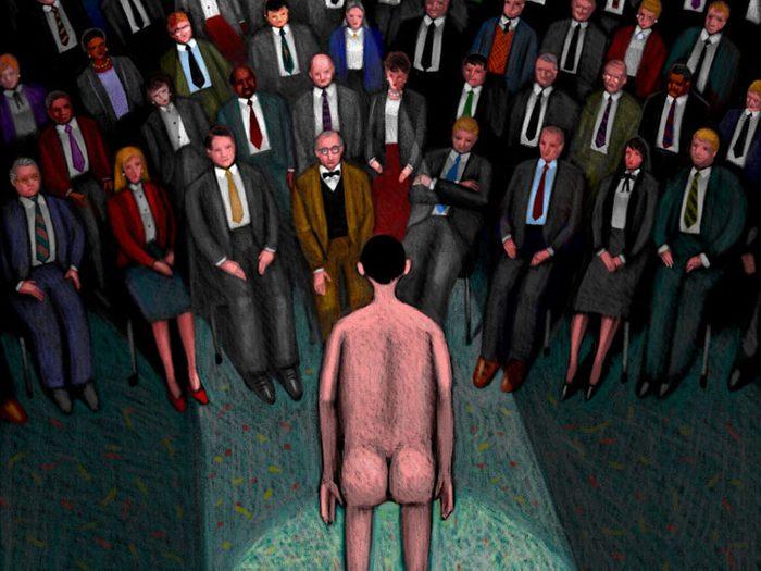 Rêver de se trouver nu en public