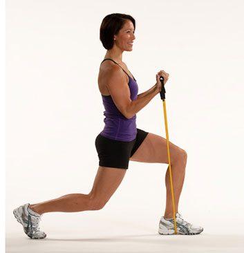 2. Fentes inversées et flexions des biceps