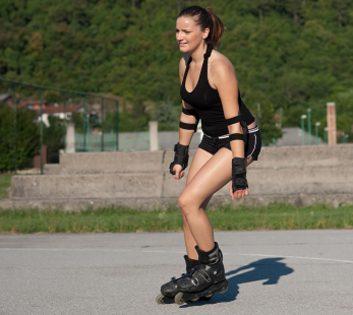 Faites du patin à roues alignées