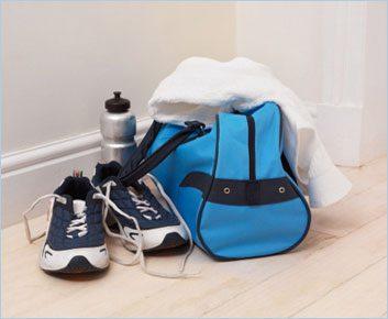 Désinfectez régulièrement votre sac de sport