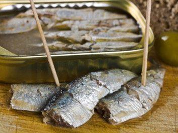 7. Sardines et craquelins