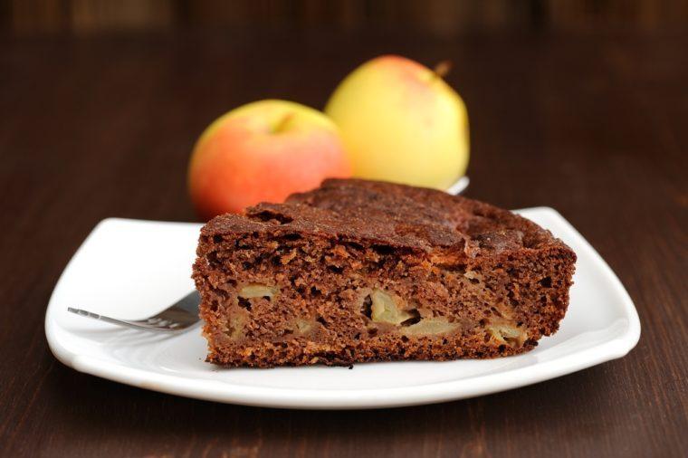 Recettes avec des pommes: savourez notre gâteau au chocolat et pommes.