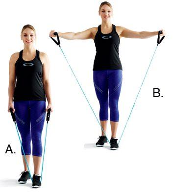 4. Soulèvements latéraux des épaules: 2 minutes