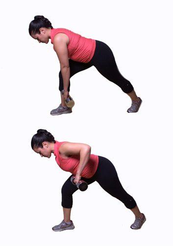 1. Traction du bras: position de fente