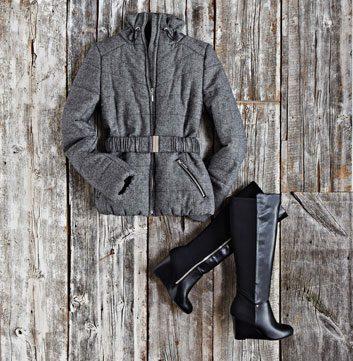 Manteau matelassé et élégant