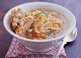 Soupe l 39 oignon aux cro tons gratin s - Soupe a oignon maison ...