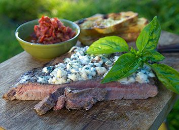 Steak au bleu et au vinaigre balsamique