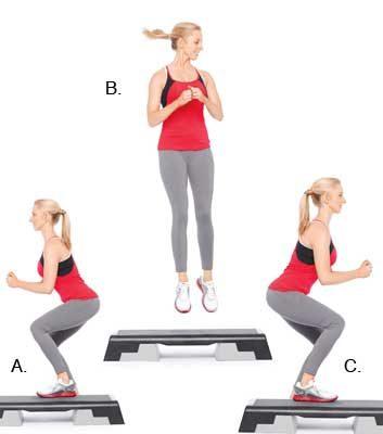 6. Squat avec saut et pivotement de 180 degrés: 1 minute