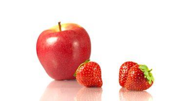 7. Porc à la purée de pommes et aux fraises