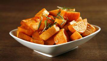 Patate douce, carotte, melon brodé, poivron rouge (et autres aliments riches en bêta-carotène)