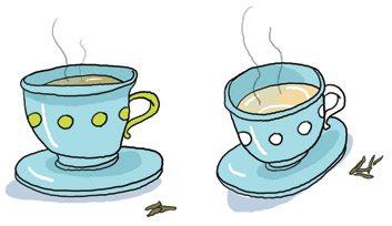 Le classique: le thé vert. La nouveauté: le thé blanc