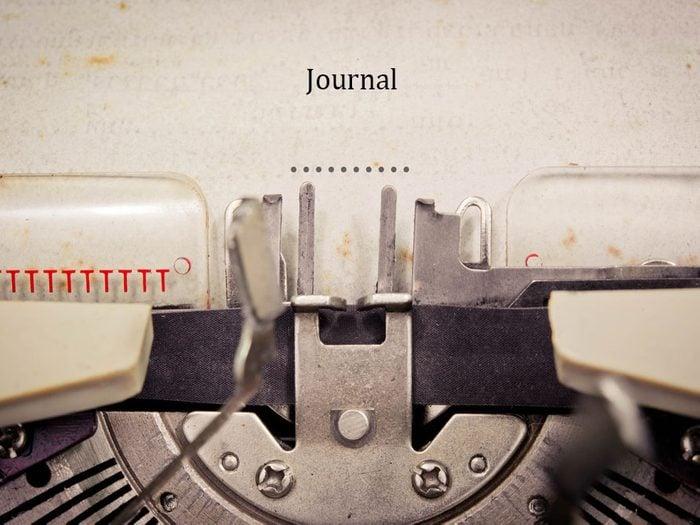 Écrire dans un journal
