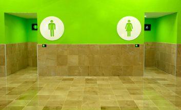 À la salle de bain: