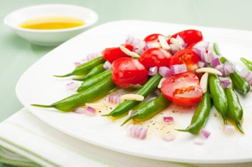 Haricots et tomates