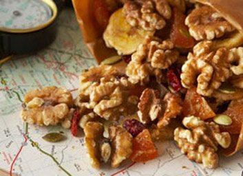 Mélange de noix, de graines et de fruits déshydratés