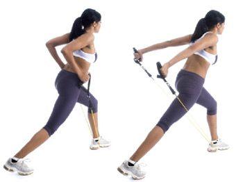 Extension de l'avant-bras en position de fente