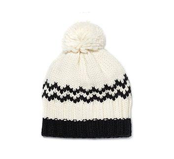 Chapeau écru motifs nordiques Joe Fresh