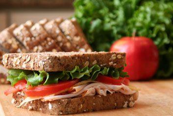 Le sandwich à la dinde