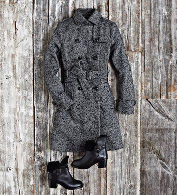 Un trench en tweed