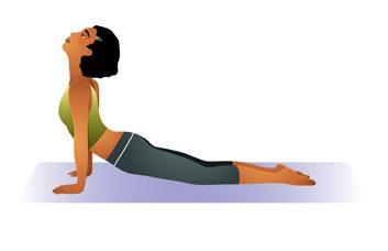 posture yoga chien