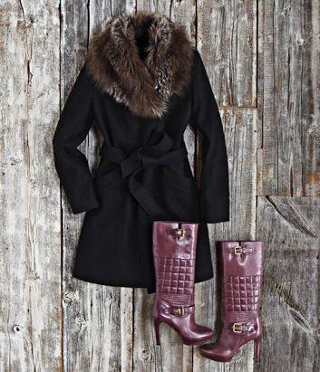 Manteau avec grand col