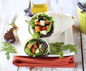 Roulé aux légumes rôtis