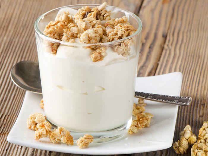 Mets habituel: des céréales et du lait