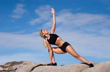Du yoga à l'extérieur