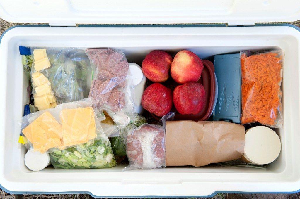 Mettez les aliments à refroidir sur votre galerie