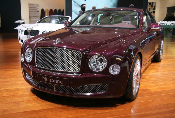 Bentley Mulsanne: l'une des autos les plus chères au Canada.
