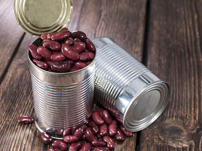 Aliments à ne pas racheter: les légumineuses en converse.