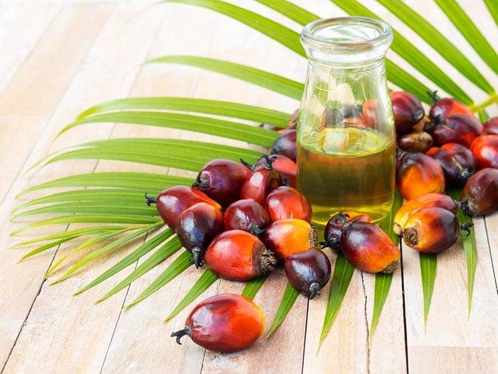 Aliments à ne pas racheter: l'huile de palme.