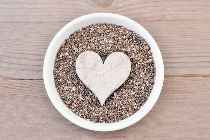 Graines de chia: Elles regorgent de bienfaits et vertus pour votre coeur.