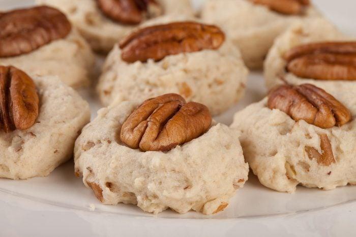 Des biscuits santé aux pacanes faibles en calories.