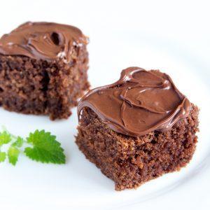 Bouchées de gâteau au chocolat